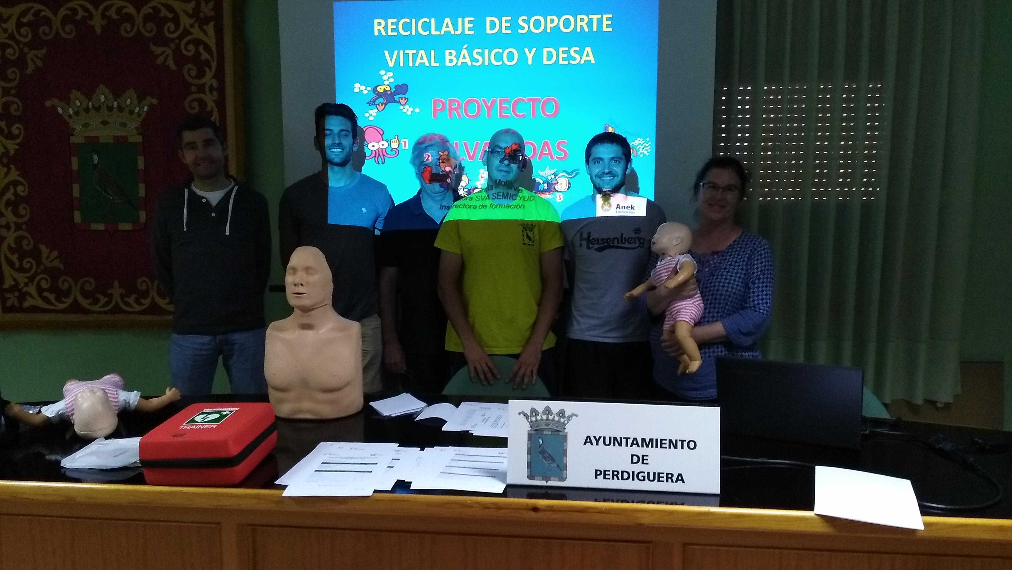 CURSO DE RECICLAJE DE DESA EN EL AYUNTAMIENTO DE PERDIGUERA