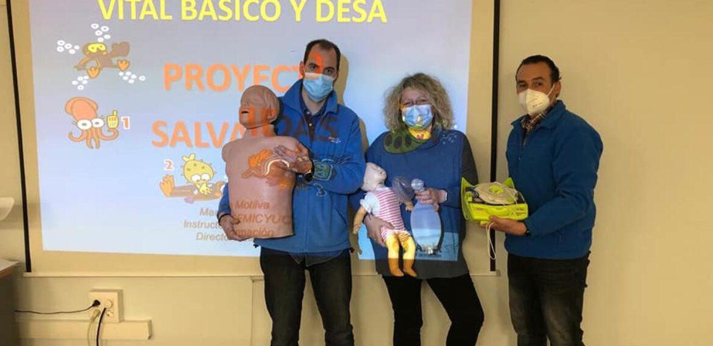 Curso de reciclaje de SVB y DESA a trabajadores/as de la empresa Alliance Healthcare