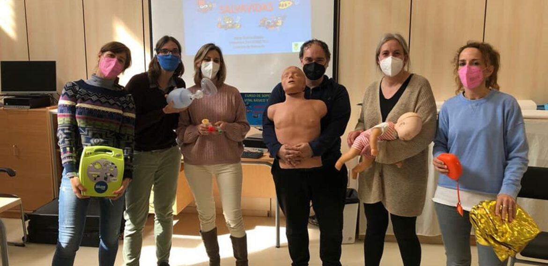Curso de SVB y DESA a profesores del IES Arcosur