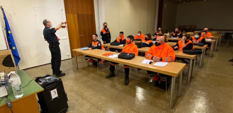 Jornada formativa para los Voluntarios de Protección Civil de Milagro ( Navarra).