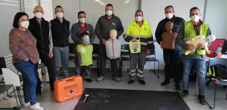 Curso de reciclaje de SVB y DESA a trabajadores de la empresa MP