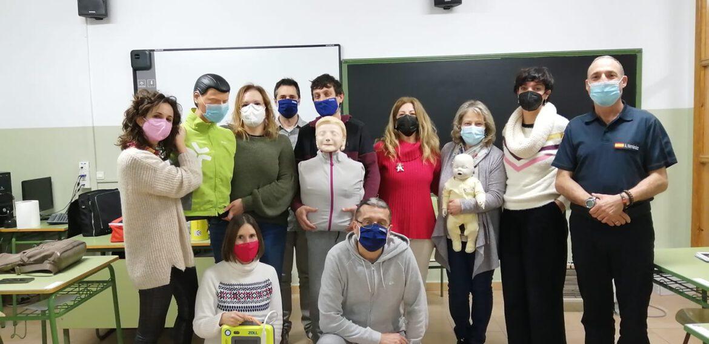 Curso de SVB y DESA a profesorado y trabajadores del IES Rio Arba