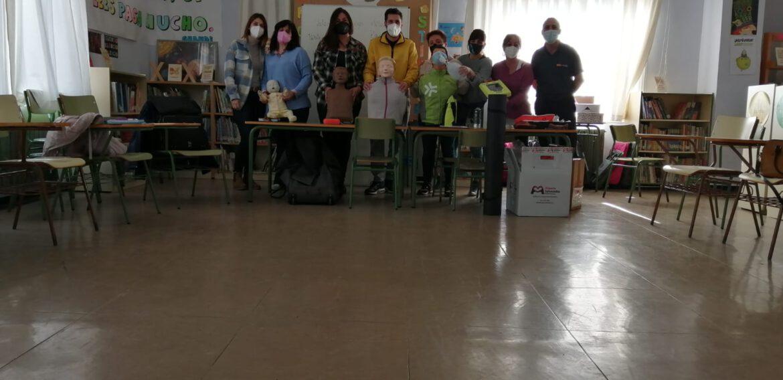 Formación RCP Y DESA, colegio Maria Dominguez de GALLUR.