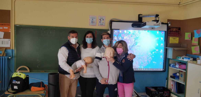 Curso de SVB y DESA impartido a profesores del CEIP Mateo Valero de Alfamen