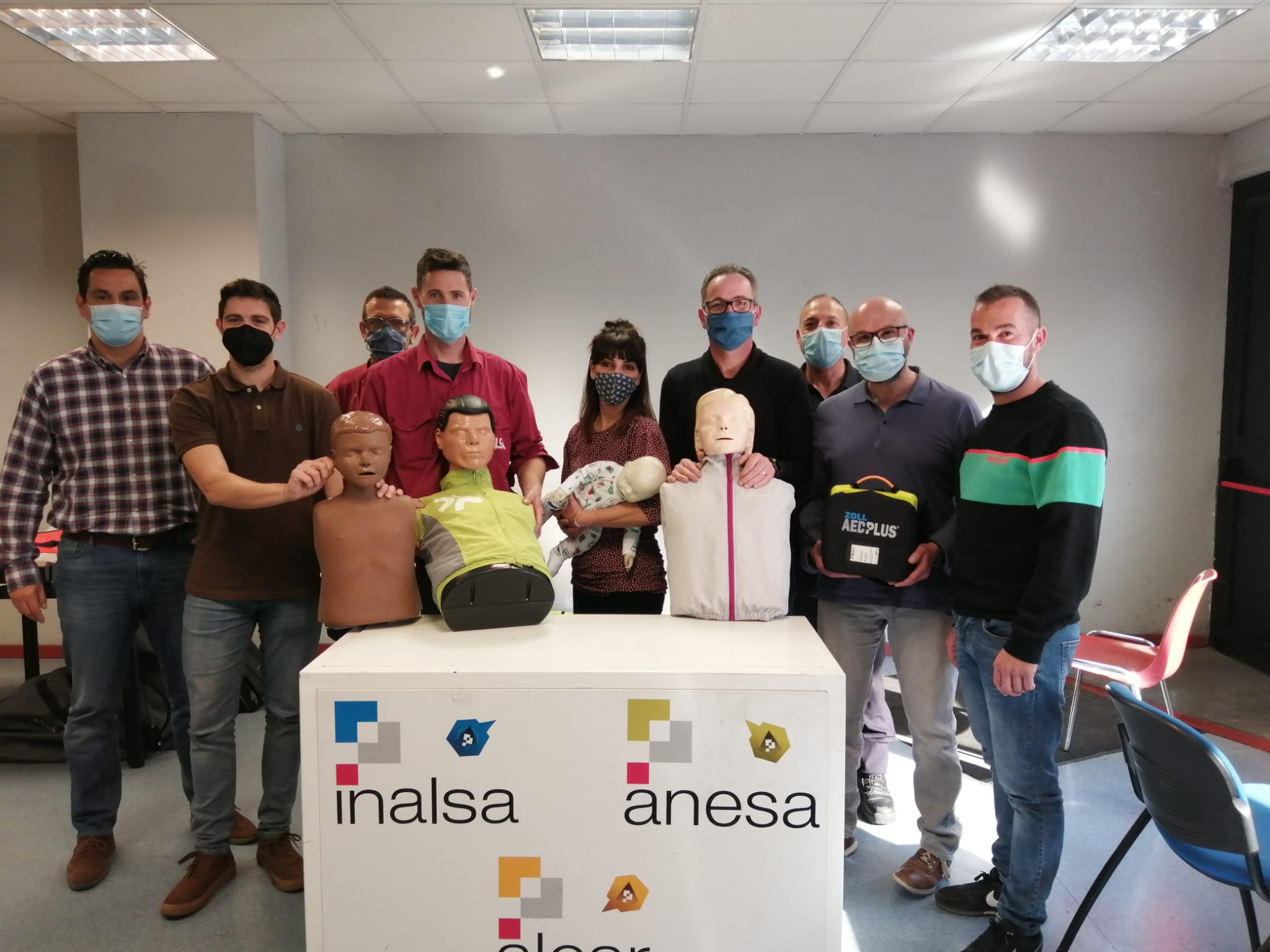 Formaciónes en SVB y DESA a trabajadores de la empresa Inalsa de Zaragoza y Nuez de Ebro