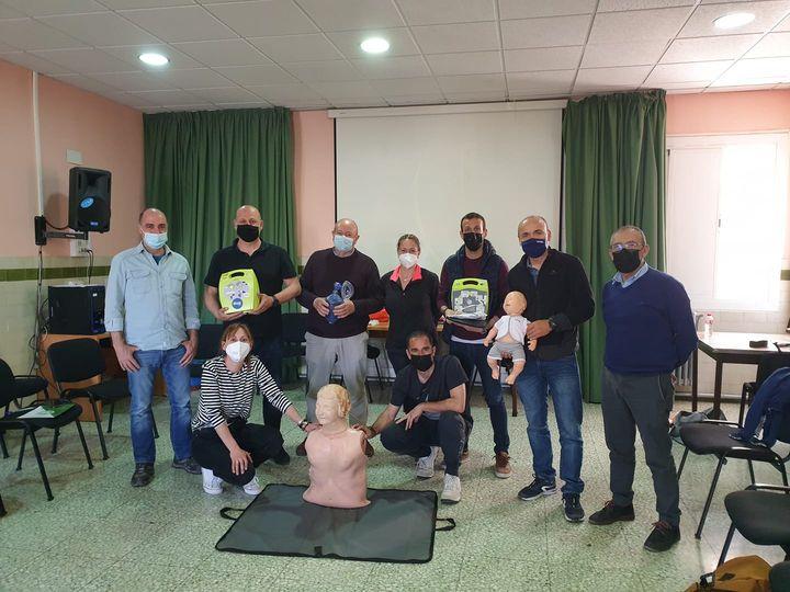curso de SVB y DESA impartido a docentes del Colegio Salesianos de La Almunia de Dña Godina