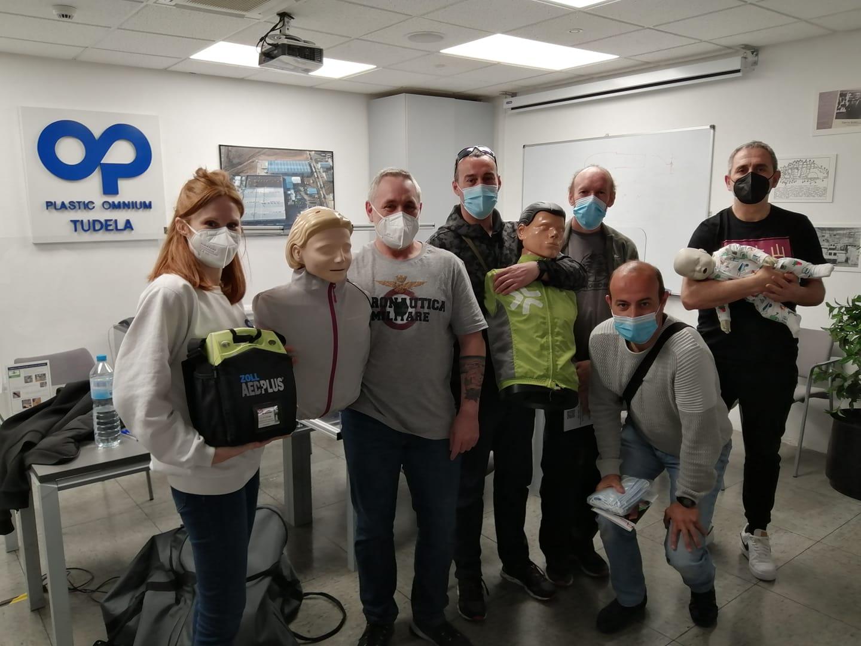 Formación en SVB y DESA a trabajadores de la empresa Plastic Omnium