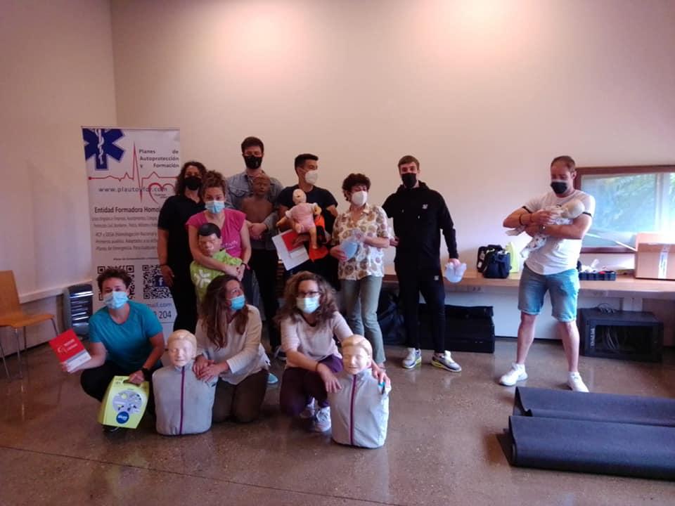 Curso de SVB y DESA en la localidad de Milagro (Navarra).