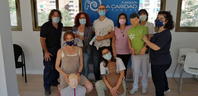 Curso de SVB y DESA unas personas maravillosas de la Fundacion La Caridad-Zaragoza