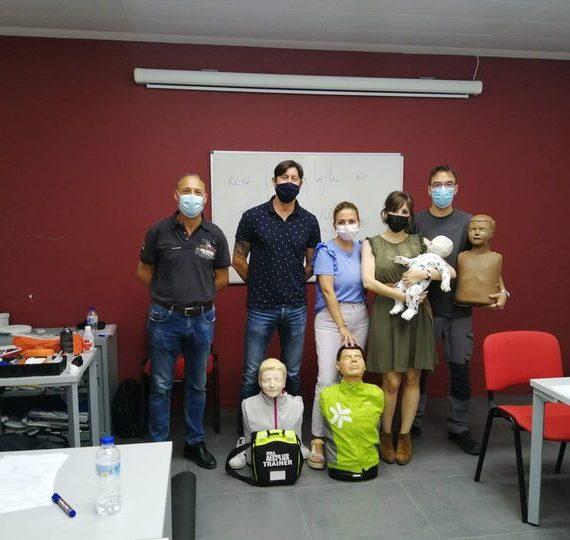 Curso de reciclaje de SVB y DESA a trabajadores/as de la empresa Araelec de Zaragoza